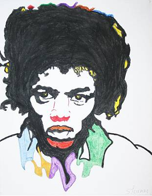 Print featuring the painting Jimi Hendrix by Stormm Bradshaw