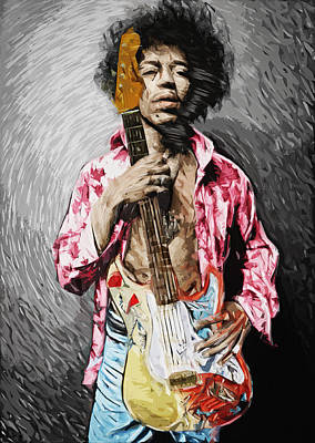 Digital Art - Jimi Hendrix by Taylan Apukovska