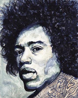 Jimi Hendrix Art Print by Tom Roderick