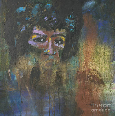 Splashy Painting - Jimi Hendrix by Vic  Mastis