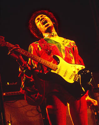 Photograph - Jimi Henrix At The Isle Of Wight 1970 by Chris Walter