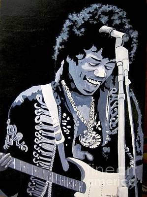 Painting - Jimi by Jerry Walker