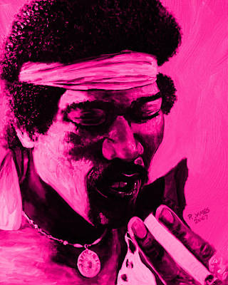 Psychadelic Painting - Jimi2purple by Roger  James
