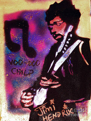 First Amendment Painting - Jimi's Voo Doo by Tony B Conscious