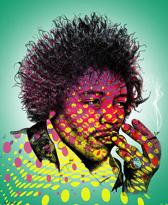 African-american Digital Art - Jimmie Hendrix  by Mark Ashkenazi