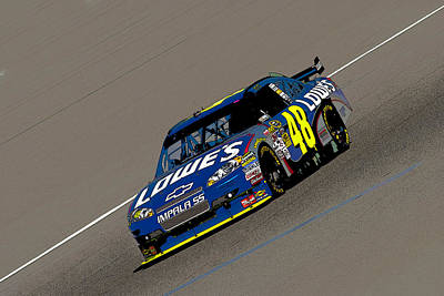 Jimmie Johnson 48  Art Print by Kevin Cable