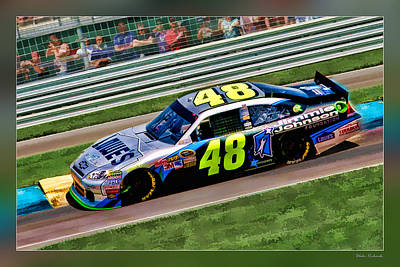 Photograph - Jimmie Johnson by Blake Richards
