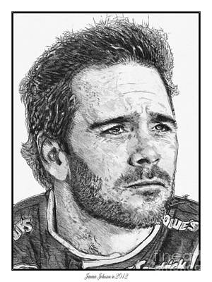 Drawing - Jimmie Johnson In 2012 by J McCombie