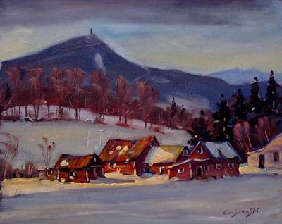Berkshire Hills Painting - Jimmie's Place by Len Stomski