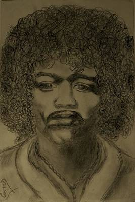 Drawing - Jimmy '68 by Carrie Viscome Skinner