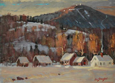 Berkshire Hills Painting - Jimmy Alibozek's Place by Len Stomski