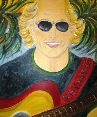 Painting - Jimmy Buffet by Debby Reid