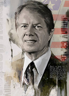 James Madison Painting - Jimmy Carter by Corporate Art Task Force