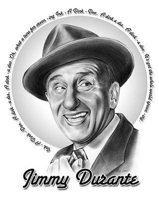 Mixed Media Royalty Free Images - Jimmy Durante Royalty-Free Image by Greg Joens