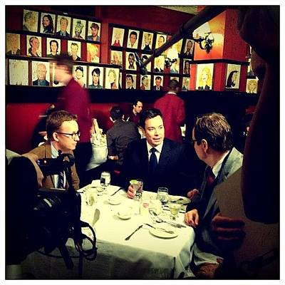 Restaurant Wall Art - Photograph - Jimmy Fallon, Steve Higgins & A.d. Miles by Natasha Marco