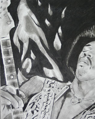 Jimmy Hendrix Art Print by Aaron Balderas