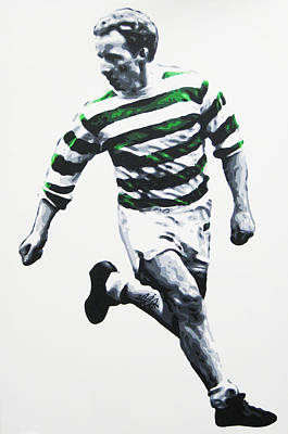 Painting - Jimmy Johnstone - Celtic Fc by Geo Thomson