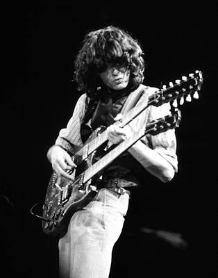 Photograph - Jimmy Page 1983 by Chris Walter