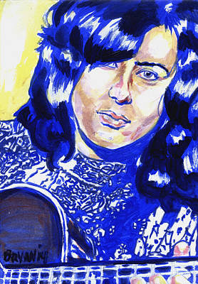 Painting - Jimmy Page by Bryan Bustard