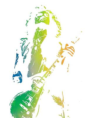 Led Zeppelin Digital Art - Jimmy Page by Dan Sproul