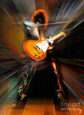 Zoso Digital Art - Jimmy Page by Neil Finnemore