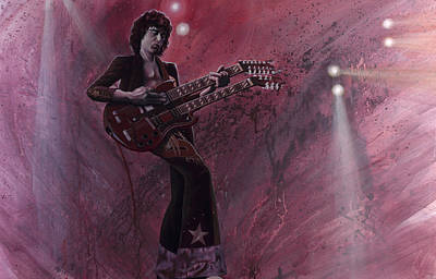 Jimmy Page Original by Robert  Laskey