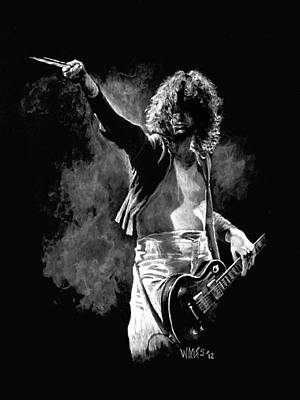 Concert Images Painting - Jimmy Page by William Walts