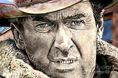 Mixed Media Royalty Free Images - Jimmy Stewart  Royalty-Free Image by Gary Keesler
