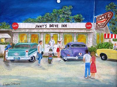 Painting - Jimmy's Drive Inn by Linda Cabrera