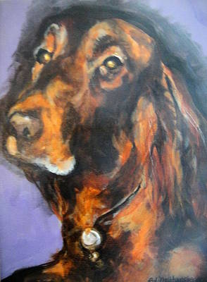 Painting - Jim's Dog by Edith Hunsberger