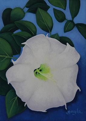 Painting - Jimson Bloom by Gayle Faucette Wisbon