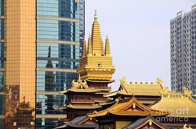Photograph - Jin An Temple Shanghai by Charline Xia