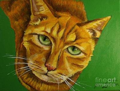 Painting - Jing Jing - Cat by Grace Liberator