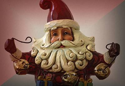Photograph - Jingle Bell Santa by Nadalyn Larsen