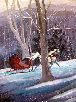 Painting - Jingle Bells A by Gretchen Allen
