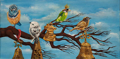 Painting - Jingle Birds by Susan Culver