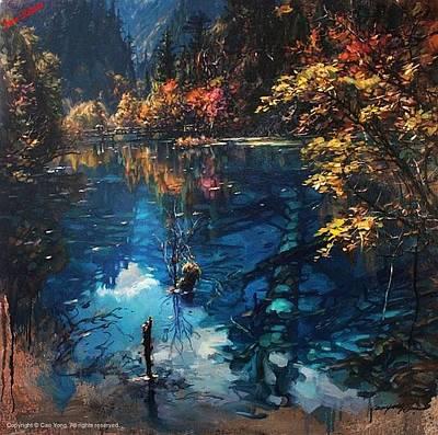 Cao Yong Painting - Jiuzhaigou Valley II by Cao Yong