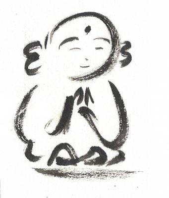 Budai Painting - Jizo 1 by Ren Adams