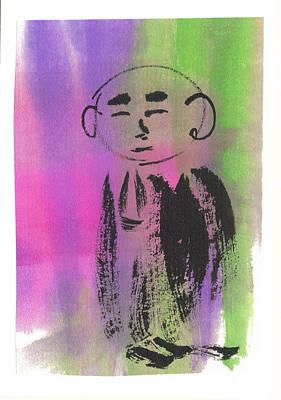 Budai Painting - Jizo 2 by Ren Adams