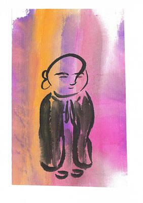 Budai Painting - Jizo 3 by Ren Adams