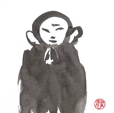 Budai Painting - Jizo 4 by Ren Adams