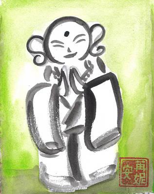 Budai Painting - Jizo 5 by Ren Adams