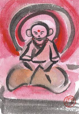 Budai Painting - Jizo 6 by Ren Adams