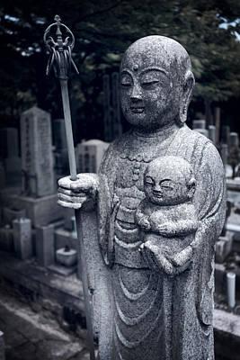Diety Photograph - Jizo Bodhisattva Deity Of Kyoto  by Daniel Hagerman