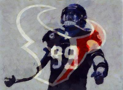 Jj Watt Houston Texans Art Print by Dan Sproul