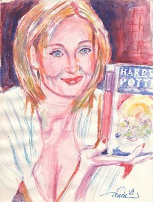 Jk Rowling Happy Art Print by Horacio Prada