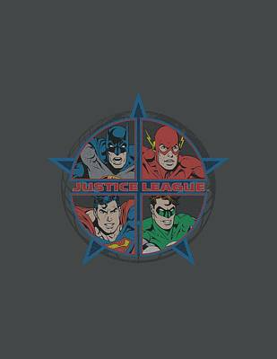 Lantern Digital Art - Jla - Four Heroes by Brand A