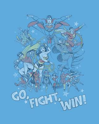 Lantern Digital Art - Jla - Go Fight Win by Brand A