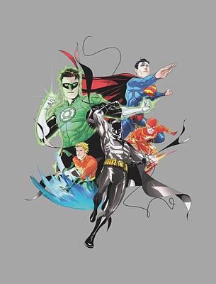 Superhero Photograph - Jla - Mashup by Brand A