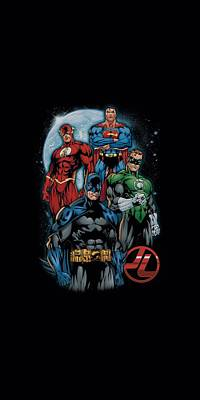 Lantern Digital Art - Jla - The Four by Brand A